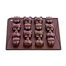 Pavoni CHOCO11 Platinum Silicone Farm Animals Chocolate Mould, Brown