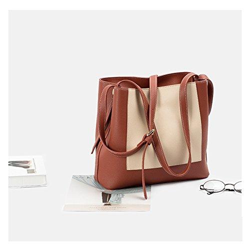 ZCM Commuter Package Color Brown Tote Shoulder Simple Fashion Handbag Messenger Big New Hit Bag Female Shoulder Bag Messenger Bag Fq1rOpwF