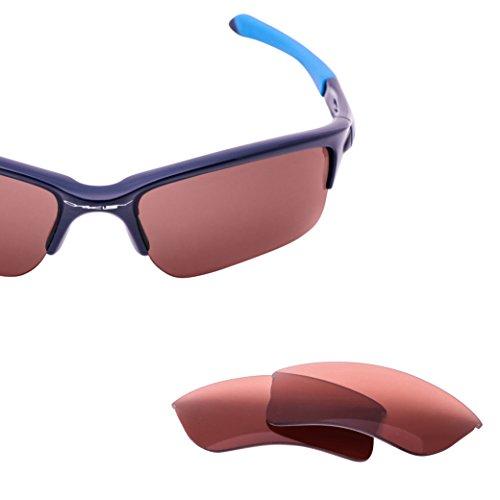 LenzFlip Replacement Lenses Oakley QUARTER JACKET Sunglass - Rose Polarized Lenses by LenzFlip