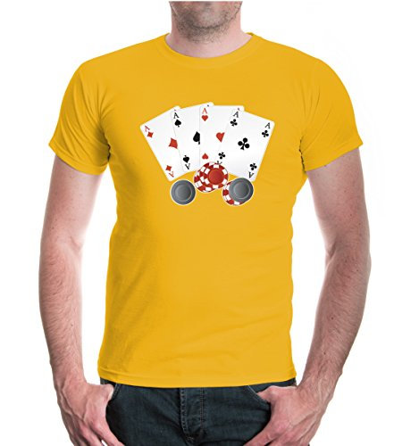 buXsbaum T-Shirt Playing (Medium Sunflower Chips)