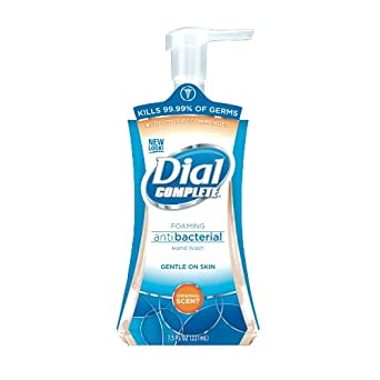 Dial Professional 02936 Dial Complete Antibacterial Foaming Hand Wash Pump 7.5 Oz. (Case of 8)