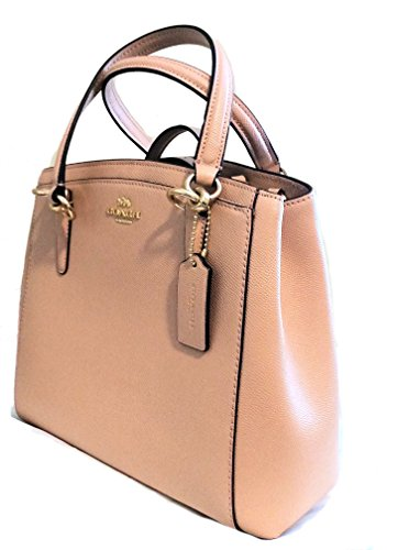 Coach Pink Nude Crossbody Handbag Leather Minetta Crossgrain Glitter wpqB7F