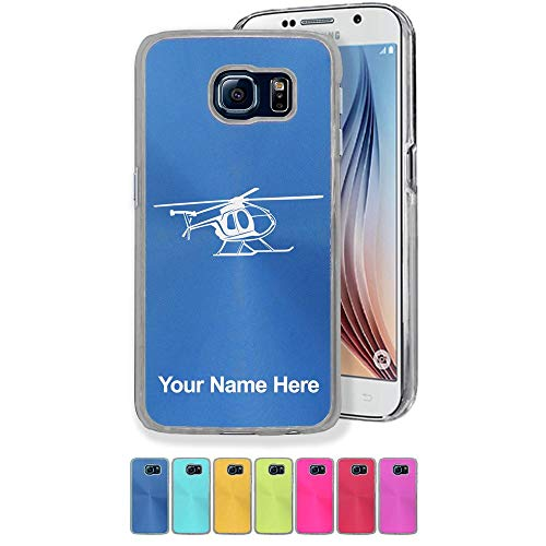 (Case Compatible with Galaxy S7, Helicopter 1, Personalized Engraving Included)