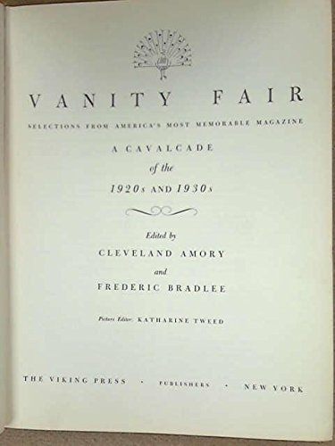 Vanity Fair by Cleveland Amory and Frederic Bradlee