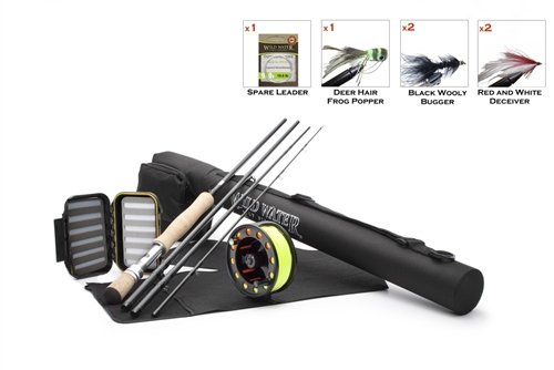 Wild Water 9/10 9' Rod Freshwater Fly Fishing Complete Starter Package by Wild Water