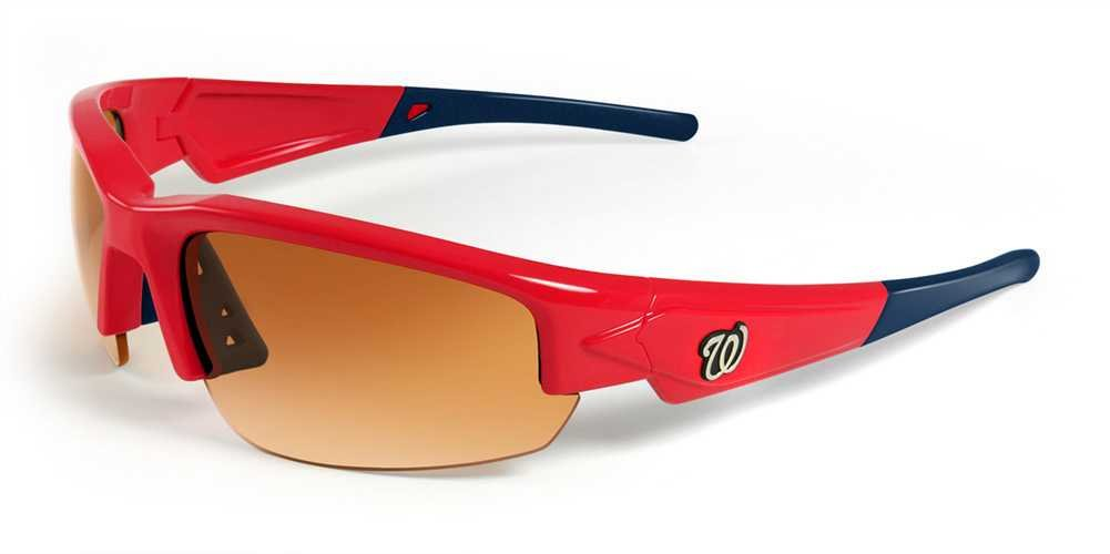 MLB Washington Nationals Dynasty Sunglasses with Bag, Red and Navy, Adult