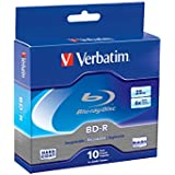 Verbatim 25 GB 6x Blu-ray Single Layer Recordable Disc BD-R, 10-Disc Spindle  97238