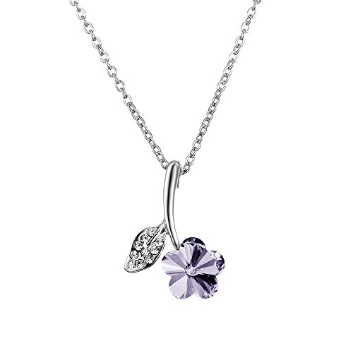 [18k Gold-Plated Austrian Crystal Blossom Pendant Necklace Afterglow Jewelry] (Baby Blossom Costume)