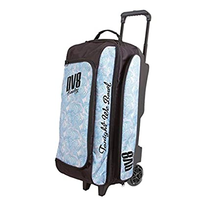 Image of Bags DV8 Freestyle Triple Roller Bowling Bag, Blue Swirl