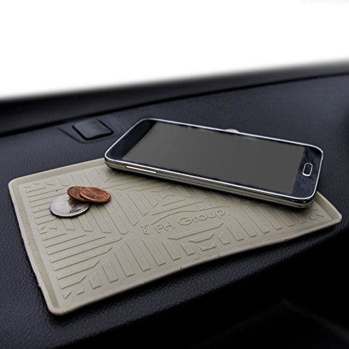 FH Group FH3011 Silicone Anti-Slip Dash Mat Smartphone iPhone, iPhone Plus, Galaxy, Galaxy Note Coin Grip, Beige Color