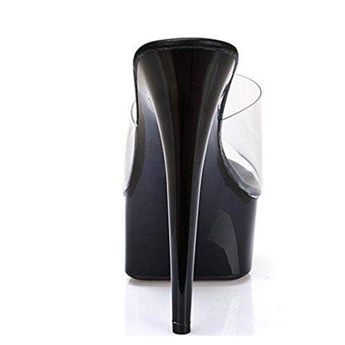 con fondo ballo passerelle tacchi da C Cm luogo 15 spesso di piattaforma impermeabile infradito lavoro scarpe Donne belle sandali alti sala f5Iq44