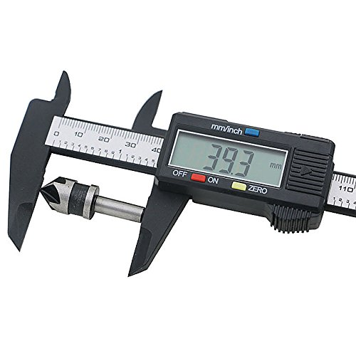 150mm//6inch LCD Digital Professional Electronic Ruler Carbon Fiber Vernier Caliper Gauge Micrometer Measuring Tool Device For Inside Outside Depth And Step Measurements