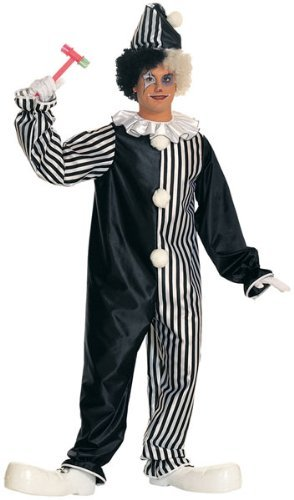 Black And White Clown Shoes (Rubie's Costume Co. Women's Harlequin Clown Costume, As Shown, One Size)