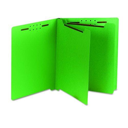 S J Paper S59724 S J Paper Gussco End Tab Classification Folders, Letter, 6-Section, Green, 25/Bx by SJ PAPER