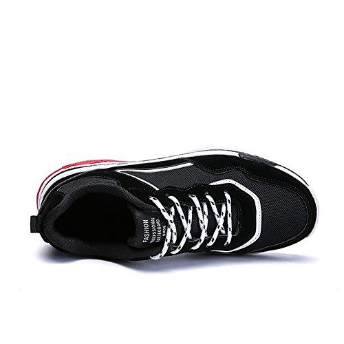 Führershow-Männer beiläufige athletische Breathable Snekers Mode-Komfort-Tennis-gehende Schuhe Schwarz