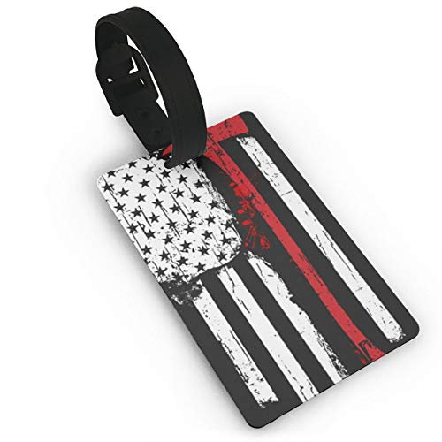 Sheery American Fire Axe Luggage Tags Business Card Holder Travel ID Bag Tag