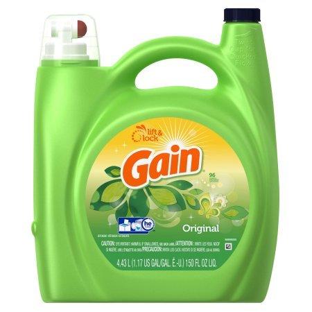 Gain Liquid Laundry Detergent, Original Scent, 96 loads, 150 fl oz, 4 Pack