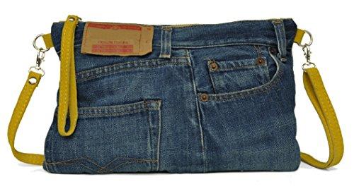 Lae In - Cartera de mano de algodón para mujer S Stone Washed (jaune)