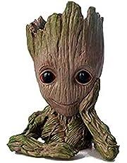 MornBee Baby Groot Plantenpot, Hars Groot Bloempot Planter Voor Sappig, Cactus, Kruiden, Pennenhouder Home Office Desktop Decor (Stijl A)