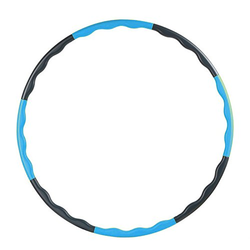 hula hoops - SODIAL(R)80CM fitness removable weight loss Hard Tube equipment waist slimming hula hoops blue