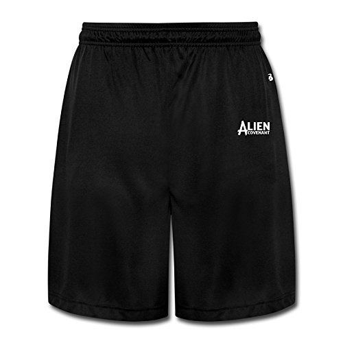 CEDAEI Alien Covenant Classic Mens Training Shorts Sport Sweatpants Black - 21 Sunglasses Forever
