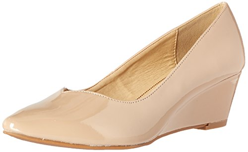 CL by Chinese Laundry Women's Tiara Wedge Pump, Black New Nude Patent