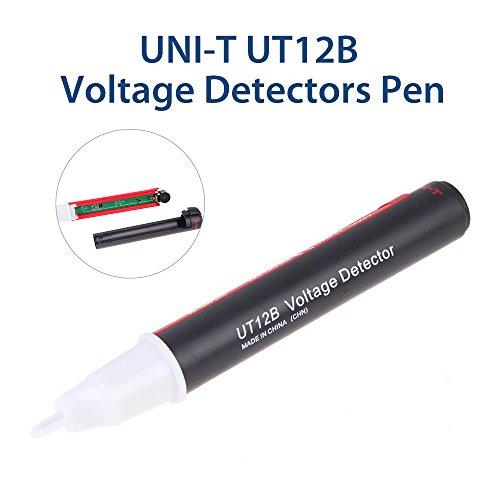 Seesii UNI-T Digital Voltage Detectors Auto Sense AC Test Pen 90V~1000V Non-contact Test Automatic Test Pencil Frequency Voltage Tester Auto Power Off Pocket(UT12B)