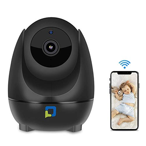 OPTJOY Home Security Video Camera 1080P HD WiFi Indoor IP Camera Night Vision Two Years Free Service, Pan+Tilt+Zoom,Two Way Audio Sensitive Motion Tracking Detection (Set Chip Ram Via)