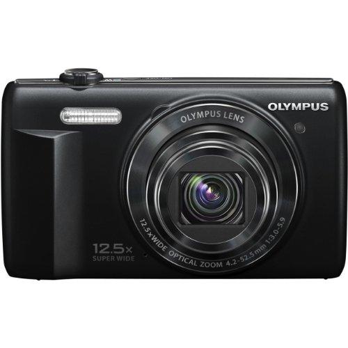 Olympus VR-370 16.0 Megapixels Digital Camera - 12.5x Optical/4x Digital Zoom - 3-inch LCD Display - 24 mm Ultra Wide-angle Lens - Black