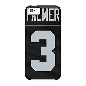 Iphone 5c Case Cover - Slim Fit Tpu Protector Shock Absorbent Case (oakland Raiders) BY icecream design