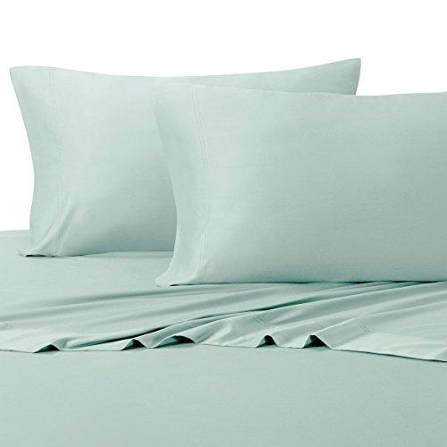 600 Tc Solid Sheet Set (Split-King: Adjustable King Bed Sheets 5PC Solid Sea 100% Cotton 600-Thread-Count, Deep Pocket)
