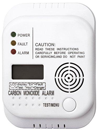Smartwares Kohlenmonoxid Melder mit Display und Temperaturanzeige, Prüftaste, RM370