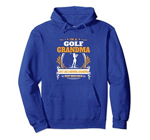 Grandma Golf Shirt (Unisex Funny Golf Grandma Hoodie for Grandma Large Royal Blue)