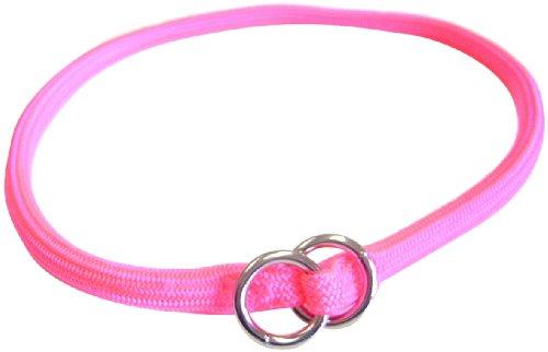 Hamilton 830 HP 5/16-Inch by 22-Inch Round Braided Choke Nylon Dog Collar, Hot Pink, My Pet Supplies