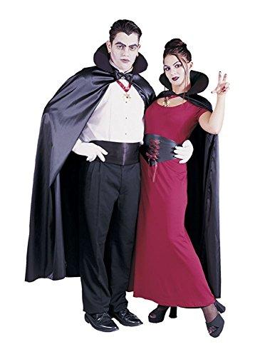 56 Satin Cape Costumes (Black Satin Cape - 56 inch Length)