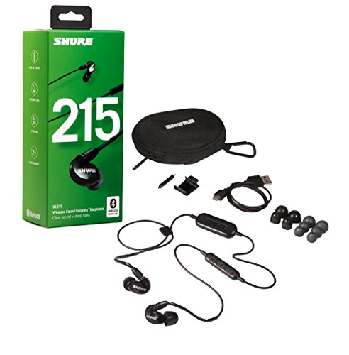 Shure SE215-K-BT1 Wireless Sound Isolating Earphones with Bluetooth Enabled Communication Cable
