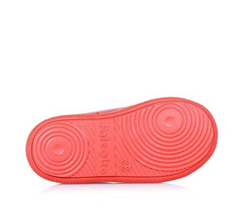 FALCOTTO - Chaussure à lacets rouge en cuir, idéale pour ramper et pour les premiers pas, avec pointe en caoutchouc, garçon, garçons