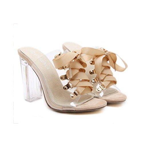 alti modelli Sandali per Heel Princess Movie Crystal Toe Xdgg i donne Vestono ruvidi Open moda le 1 infradito Scarpe Tacchi 8YqTnRw