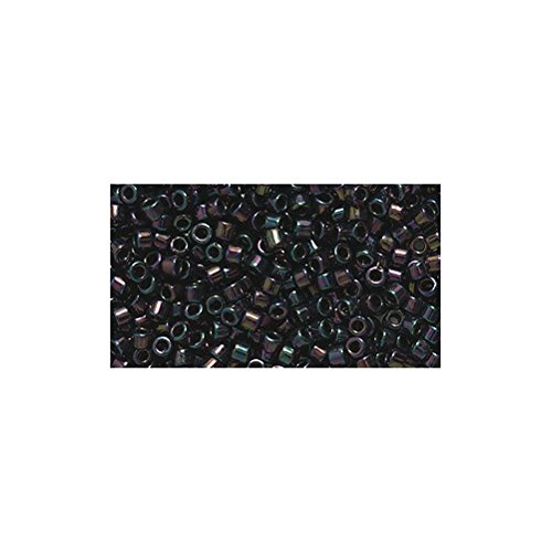 (Miyuki Delica Seed Bead 11/0 DB004, Metallic Dark Plum Iris, 9-Gram/Pack)