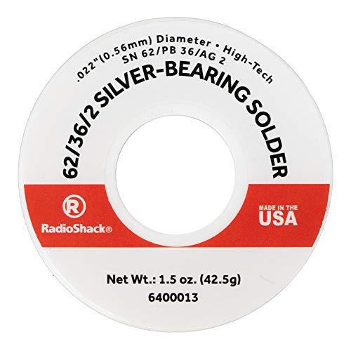 RadioShack SnPbAg 62/36/2 Silver-Bearing Rosin-Core Solder 0.022