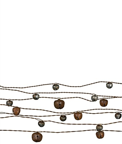 Sullivans 24' Jingle Bells Wire Garland (Silver & Bronze)