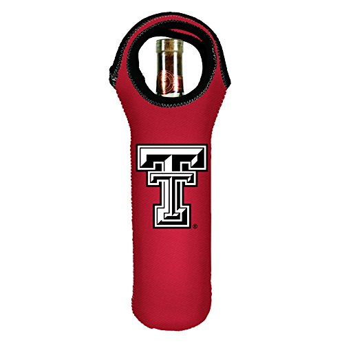 Kolder NCAA Texas Tech Red Raiders Wine Tote, Red, 750ml (Wine Red 750ml)