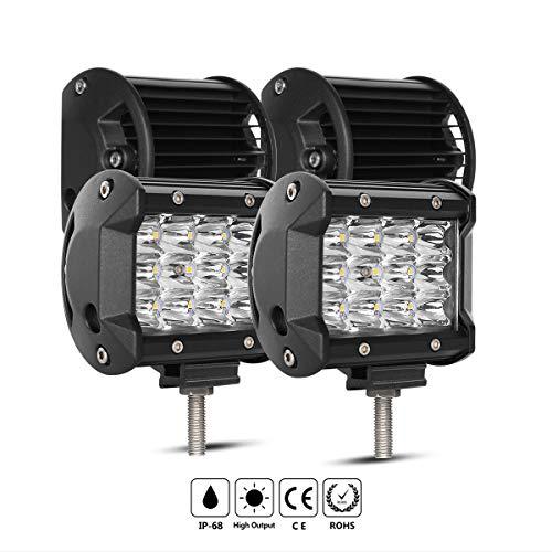 LED Light Bars, Rigidhorse 3 Row 4pcs 4 Inch 2000LM Light po