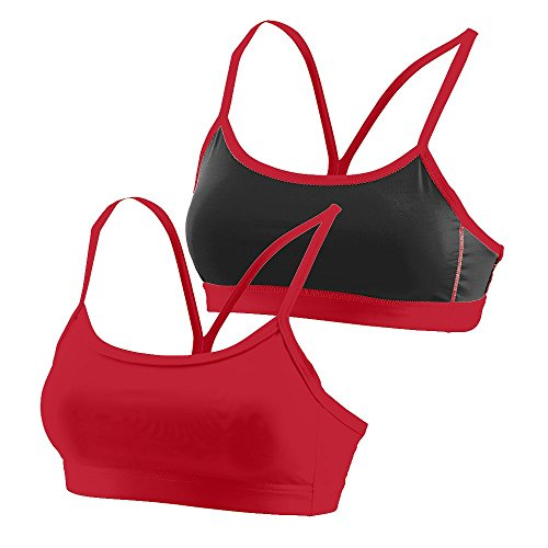 - Augusta Sportswear WOMEN'S ENCORE REVERSIBLE SPORTS BRA M Red/Black