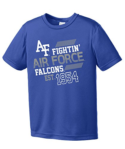 - NCAA Air Force Falcons Youth Boys Offsides Short sleeve Polyester Competitor T-Shirt, Youth Small,Royal