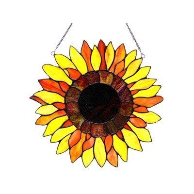 (Chloe Lighting Sunnyville Sunflower Window Panel)