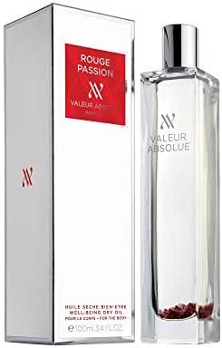 Valeur Absolue Rouge Passion Dry Oil | Irresistibility in a Bottle | Floral & Lively | Handmade in Southern France | 3.4 Fluid Ounces