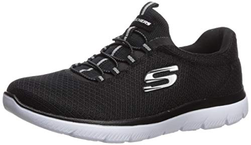 Skechers Women's Summits Sneaker, Black, 5 W US