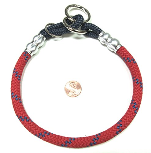 National Leash Mountain Rope Choke Collar - 20 Inches - Red