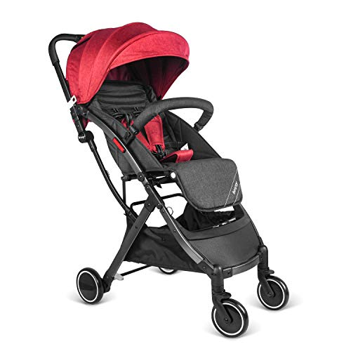 besrey Baby Lightweight Stroller Kids Pushchair with Pull Rod Easy get on Airplane Cabin – Red